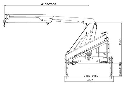 XCMG Hydraulic Arm Knuckle Boom Truck Mounted Crane With CE Certification