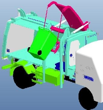 16000L Special Purpose Vehicles Compressed Side Loader Garbage Truck