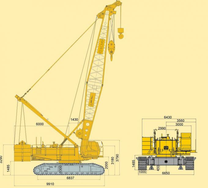 Jib Tracked Hydraulic Crawler Crane QUY130, Knuckle Boom Crane for Lifting Heavy Things