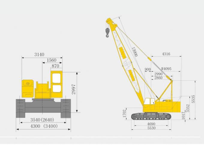 XCMG brand Durable Mobile Hydraulic Crawler Crane QUY50 , Tracked Lattice Boom Crawler Cranes