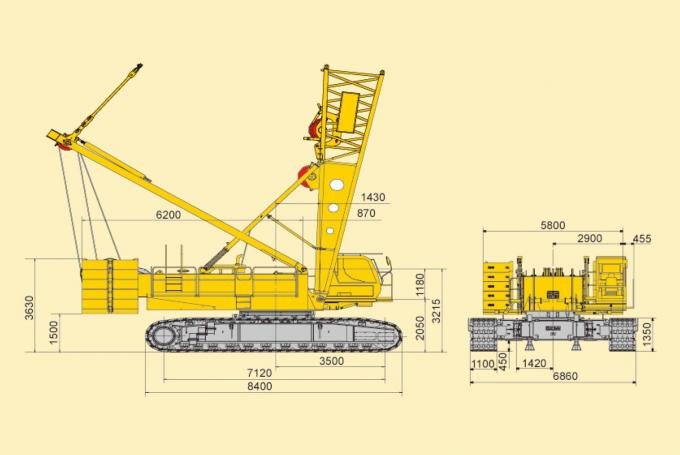 Durable Knuckle Boom Jib Hydraulic Crawler Crane For Lifting 180tons Goods