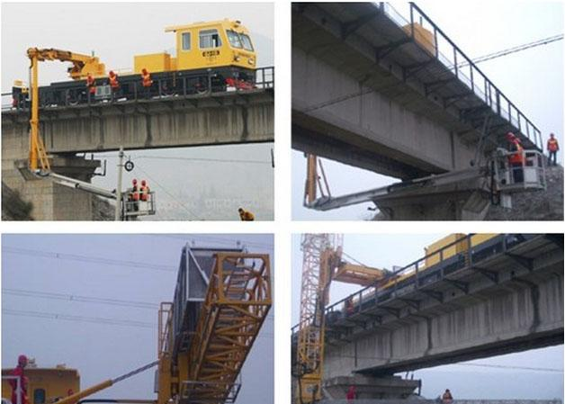 Mobile truck mounted aerial work platform for Bridge Inspection , XZJ5311JQJ18