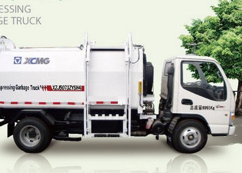 White garbage truck waste management / side loader waste collection trucks hydraulic system