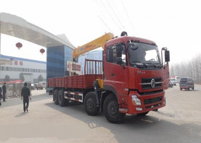 Durable XCMG 12 Ton Loader Boom Truck Crane , 14.5m Lifting Height