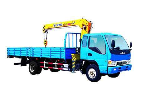 Durable XCMG 7meters Lifting Height Electricity Truck Mounted Crane Telescopic Boom