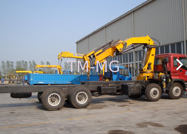 Durable Hydraulic Knuckle Boom Truck Mounted Crane , 16 Ton Truck Loader Crane