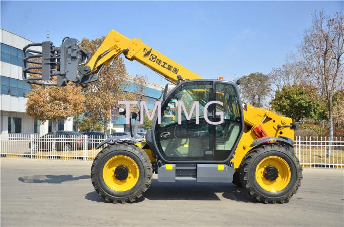 Yellow Small Telescopic Forklift Versatile Lifting Handling Equipment High Efficiency