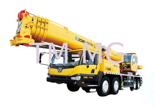 Extended Boom Mobile Hydraulic Crane Large Working Scope QY70K-I