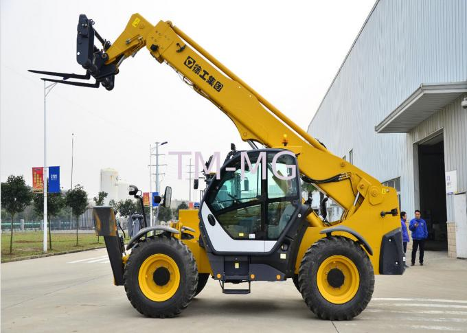10 Ton Telescopic Telehandler Forklift 6290 X 2450 X 2725mm With Good Stability
