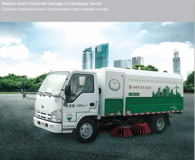 Electric Road Dust Cleaner Machine / Garbage Compactor Machine Easy To Operate