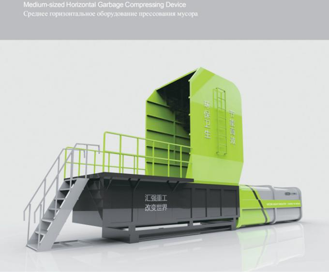 Large / Medium Size Horizontal Trash Compactor / Waste Compactor Machine
