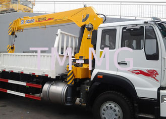 China 10 Ton Telescopic Boom Truck Mounted Crane,  With 13.5m Max Lifting height For Construction supplier