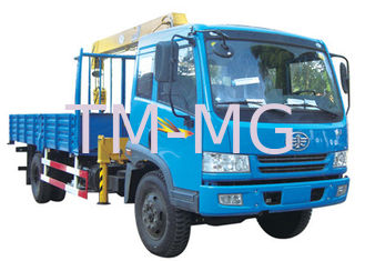 China 4 Ton Hydraulic Telescopic Boom Truck Mounted Crane For Construction supplier