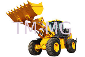 China 4 Wheel Drives LW500KL Wheel Loader Earthmoving Machinery Safe Driving Space supplier