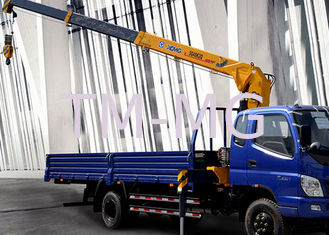 China Economical XCMG 4 Ton Hydraulic Boom Truck Crane , 25 L/min with High Performance supplier