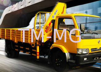 Durable 4 Ton Mobile Knuckle Boom Truck Mounted Crane For Construction