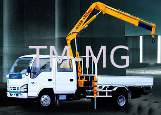 China Durable Mobile Folding Truck Articulated Boom Crane , 3200kg Truck Mounted Crane supplier