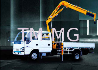 China CE truck mounted knuckle boom cranes , truck mobile crane Hydraulic Arm supplier