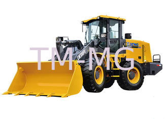 China 4 Wheel Drives LW300FV Earthmoving Machinery compact wheel loader Safe Driving Space supplier