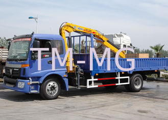 China Durable Folding Boom Truck Mounted Crane, 6.72 T.M Hydraulic Truck Crane supplier