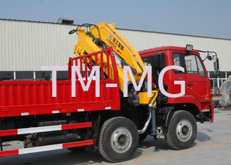 China Durable 8T Knuckle Boom Truck Mounted Crane , 40 L/min Truck With Crane supplier