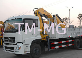 China 12Ton Mobile 12T Knuckle Boom Truck Mounted Crane For Landscrape Jobs supplier