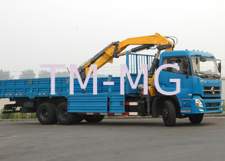 Durable XCMG 12 Ton Articulated Boom Crane , Lorry-Mounted Crane