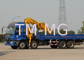 China Durable Hydraulic Knuckle Boom Truck Mounted Crane , 16 Ton Truck Loader Crane supplier