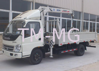 China Durable Wire Rope Telescoping Truck Mounted Crane 1105kg With 30L Oil Tank supplier