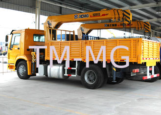 China Durable 8 Ton Transportation Telescopic Boom Truck Mounted Crane, Wire Rope supplier