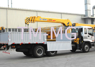 China Durable Cargo Mobile Truck Loader Crane With 55 L/min Max Oil Flow supplier