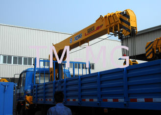 China Durable 8 Ton Lifting Capacity Truck Loader Crane With Telescopic Boom supplier