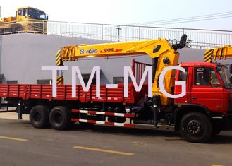 China Durable 14 Ton Hydraulic System Truck Mounted Crane, 63 L/min Oil Flow supplier