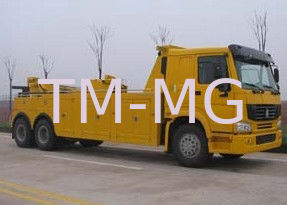 China Durable Hydraulic Highway / Road Accident Wrecker Tow Truck With Crane Arm supplier