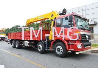 China 14 Ton truck mounted telescopic boom crane Driven By Hydraulic , 35 TM supplier