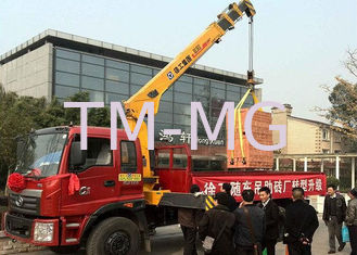 China Hydraulic Lifting Telescopic Boom Truck Crane Mounted With 2270 kg Crane supplier