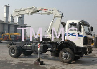 China Truck mounted hydraulic crane 40L / min 8TON  Mobile knuckleboom crane supplier
