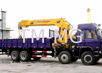 China 16 Ton construction Telescopic Boom Truck Crane With 80 L / min , Heavy Duty supplier