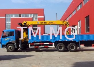 China Hydraulic Cargo Lorry Mounted Crane safety With Telescopic Boom supplier