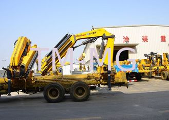 China 14T Mobile cargo crane truck knuckle boom Safety Transportation supplier