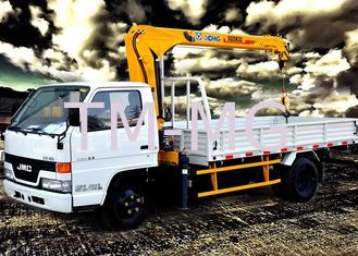 China Best Selling Weight Transportation Boom Truck Mounted Crane , 4.2 T.M 2.1 ton supplier
