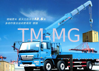 China Durable 10T Hydraulic Boom Truck Crane For Lifting And Transporting supplier