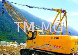 China Durable Slewing Lattice Boom Hydraulic Crawler Crane QUY180 Luffing Jib 50t supplier