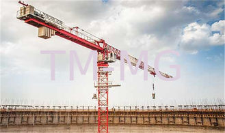 China XGTT100 12 Tons FLAT TOP Luffing Construction Site Crane 60m supplier