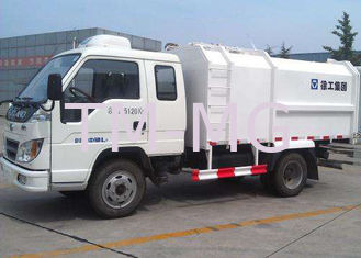 China Hydraulic Side Loader Garbage Truck 5000L Special Purpose Vehicles For Collecting Refuse supplier