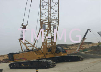 China 85 ton Jib 12t Hydraulic Crawler Crane , mobile hydraulic crane XGC85 supplier