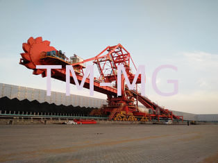 China Single / Double Cantilever Bucket Coal Unloading System Bucket Wheel Reclaimer supplier