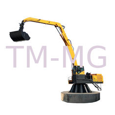 China 132kw Electric Motor Material Handling Machine Fixed Hydraulic Grab Machine supplier