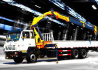 China Durable 8T Knuckle Boom Truck Mounted Crane , 40 L/min Truck With Crane company