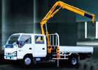 China Durable Mobile Folding Truck Articulated Boom Crane , 3200kg Truck Mounted Crane factory